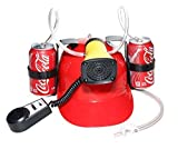 Beer Cola Soda Helmet Hard Hat Can Holder Drink Night Party Game w/ Siren 7 Different Sounds