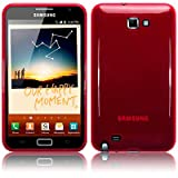 SAMSUNG GALAXY NOTE TPU GEL SKIN / CASE / COVER - RED PART OF THE QUBITS ACCESSORIES RANGEby Qubits