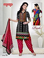 Anand Prints Women's Cotton Unstitched Dress Material (Dno115_MultiColored)