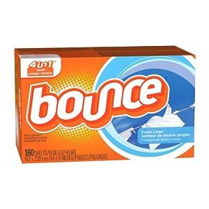 Bounce Fresh Linen Sheets 衣物柔软烘干片剂,160片装