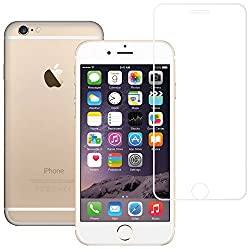 AirPlus AirGuard 9H Premium Tempered Glass Full Screen Protector with colour border for iPhone 6[HIGH DEFINITION GLOSSY CLEAR-WHITE]