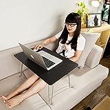 SoBuy Portable laptop table desk, Foldable Breakfast Serving Bed Tray, FBT09-SCH