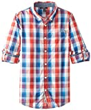 Silver Jeans Big Boys' Marco Shirt, Red/Rouge, Small