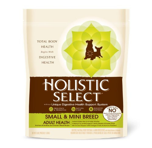 Holistic Select Small and Mini Breed Adult Health Dry Dog Food, 3-Pound Bag