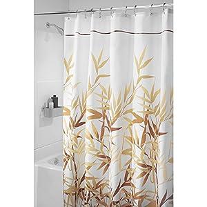interdesign anzu fabric shower curtain long
