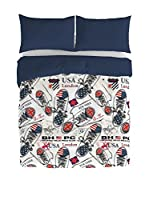 BEVERLY HILLS POLO CLUB Juego De Funda Nórdica Portland (Azul Marino/Multicolor)