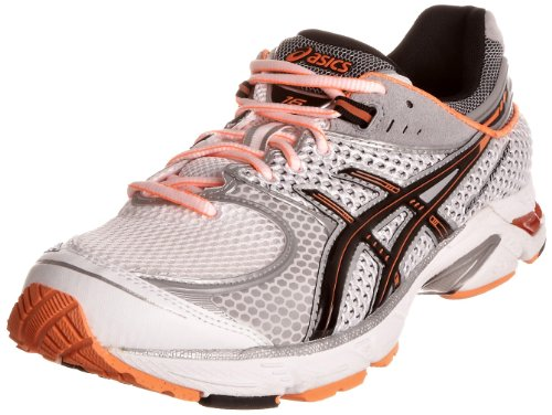 ASICS Men's Gel Ds Trainer 16 M White/Black/Neon Orange Trainer T110N0190 10.5 UK