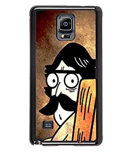 Fuson 2D Printed Cartoon Designer back case cover for Samsung Galaxy Note 4 - D4518