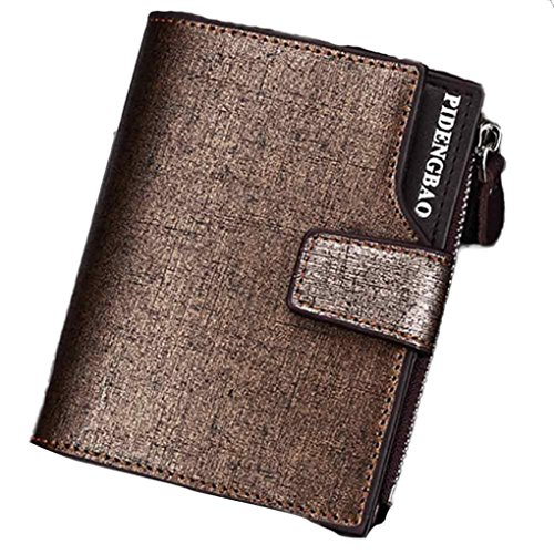 Bolayu Men Multi-function Business Leather Wallet Purse (Gold) (Remove Card On Account compare prices)