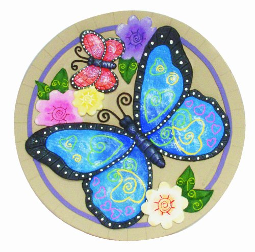 Painted Garden Stones: Spoontiques Butterfly Stepping Stone , New, Free Shipping