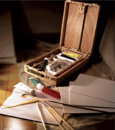 Artist Painting Master Kit In Wooden Box Easel With Acrylic Paint, 3-Pc Canvas Panels, Brushes, Palette Knife And Palette