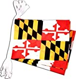 USA Maryland Bunting Flags - 19 ft / 5.9 m