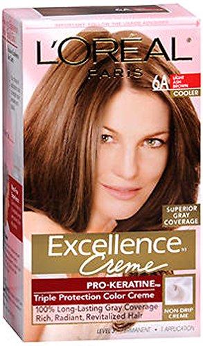 L'oreal Excellence Creme 6a Light Ash Brown (Innovative Creme Developer compare prices)