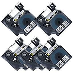 Greateam 5 Pack Labeling Tape, ½\