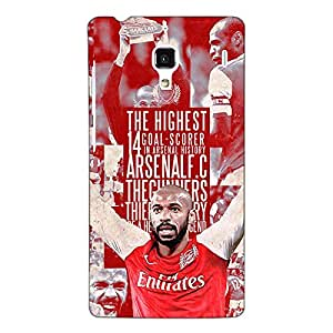Jugaaduu Arsenal Therry Henry Back Cover Case For Redmi 1S
