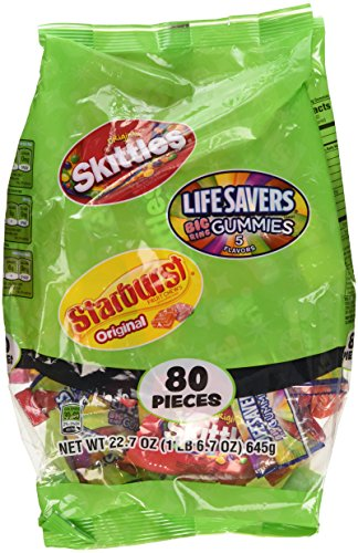 Skittles/Lifesavers/Starburst Candy Variety Pack, 80 count, 22.7 oz Wrigley (Variety Pack Candy compare prices)