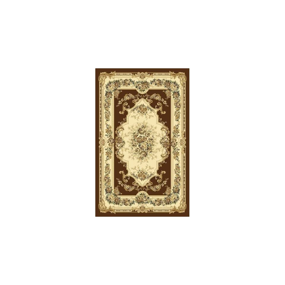Brown Green Beige Floral 5x7 (52x72) Area Rug Oriental Carpet Large New 662