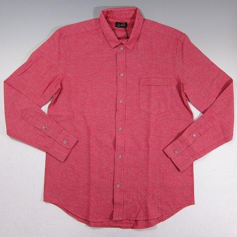 CHEAP MONDAY(チープマンデイ) 長袖 シャンブレーシャツ レッド Neo shirts