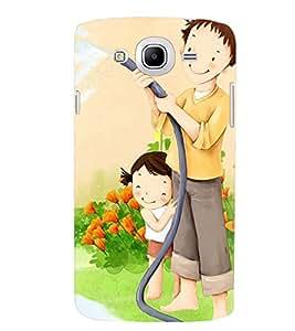 Printvisa Father Daughter Gardening Back Case Cover for Samsung Galaxy Mega 5.8 i9150::Samsung Galaxy Mega 5.8 i9152