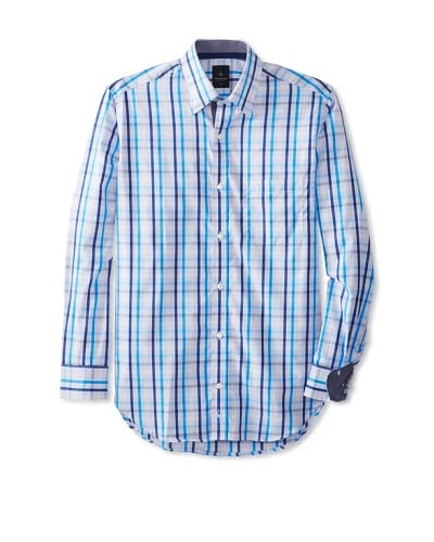 TailorByrd Men's Darnell Long Sleeve Checked Sportshirt