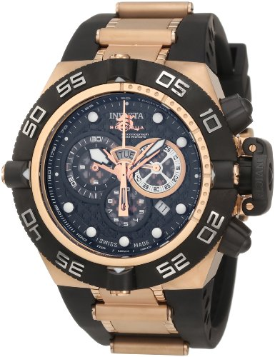 Invicta Men's 6575 Subaqua Noma IV Collection Chronograph Black Polyurethane Watch