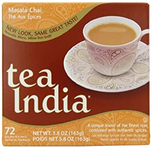 Tea India Masala Chai Tea, 72 Tagless Tea Bags, 5.8-Ounce Boxes