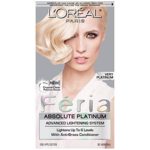 L'Oreal Paris Feria Absolute Platinums Hair Color, Very Platinum (Pack of 3) (Loreal Paris Absolute Platinum compare prices)