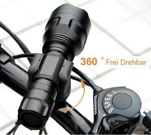 Lanlan 360¡Ãrotation Cycling Clip Clampbicycle Bike Flashlight Led Torch Mount Holder