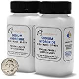 Sodium Hydroxide - Lye -Caustic Soda NaOH 99.9% Pure Food Grade 8 Ounces 1/2 Pound in plastic bottle
