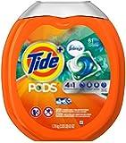 Tide PODs Plus Febreze Laundry Detergent Pacs - Botanical Rain Scent - 61 ct