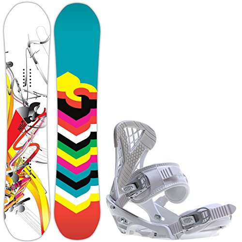 DC Ply 146 Womens Snowboard + Sapient Zeta Bindings Fits US Wms Boots Sized: 6,7,8,9,10 (Snowboard Package 146 compare prices)