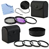 GTMax 52mm HB-33 Lens hood with Lens Cap and Filter Accessory Kits + Cleaning Cloth for Nikon D800 D800E D4 D3100 D5100 D3200 D3000 D5000 D5200 Digital SLR Camera with 18-55mm f/3.5-5.6G Lens