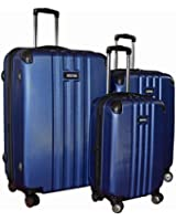 Kenneth Cole Reaction Reverb Expandable Luggage Spinner Wheeled Suitcase, 3 Pc Set