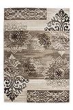 Lalee 347248407 Schöner klassischer Designer Teppich mit Ornamenten melliert, 160 x 230 cm, beige / braun