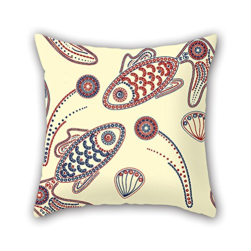 niceplw-18-x-18-inches-45-by-45-cm-fish-pillow-shams-both-sides-ornament-and-gift-to-loungeteens-boy