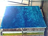 Blue Shag Rug with Free Rug Pad Exact Size 5 Feet By 7 Feet