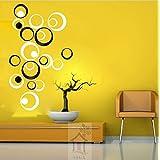 Acrylic 3d Wallsticker 10 White 10 Black Circles