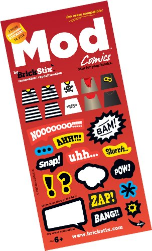 COMICS MOD STIX - Reusable Stickers for your Bricks