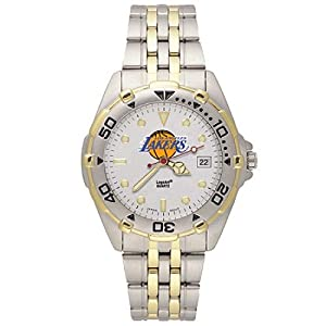 NSNSW22187Q-Mens Stainless Steel Los Angeles Lakers Watch by NBA Officially Licensed