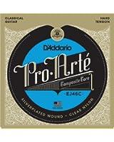 D'Addario Cordes composites pour guitare classique D'Addario Pro-Arte EJ46C, Hard