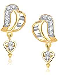 VK Jewels Gold And Rhodium Plated Alloy Dangle & Drop Earrings For Women