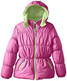 Pink Platinum Big Girls  Tonal Animal-Print Puffer Jacket