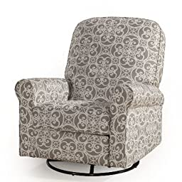360 Ash Swivel Recliner Degree Swivel Padded Back and Arms Spring Suspension Plus FREE GIFT
