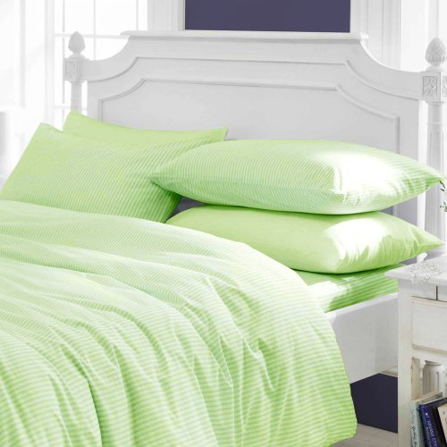Congo Linen 510 Italian Finish Egyptian Cotton Luxurious Sheet Set 510 Tc Stripe ( Cal-King , Sage ) front-1058553