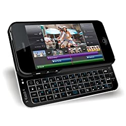 MiniSuit Apple iPhone 5 Bluetooth Qwerty Keyboard Case (Backlit Rubberized Black)