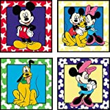 Mickey Mouse - Peel & Stick - 4 Pieces of Wall Art / Stick-Ups