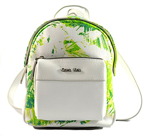 Calvin Klein Hailey Small Backpack, White Green