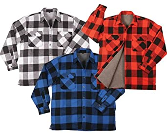 Sherpa-lined plaid flannels for guys