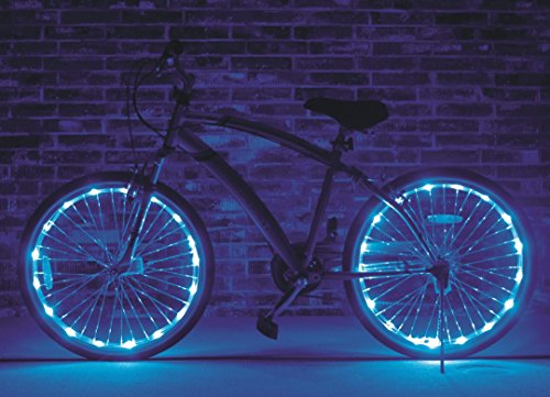 Brightz, Ltd. Blue Wheel Brightz LED Bicycle Light (2-Pack Bundle for 2 Tires)