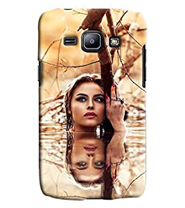 Blue Throat Girl Pose In Water Hard Plastic Printed Back Cover/Case For Samsung Galaxy J1 Ace